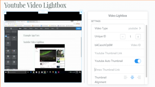 video-lightbox-weebly-app