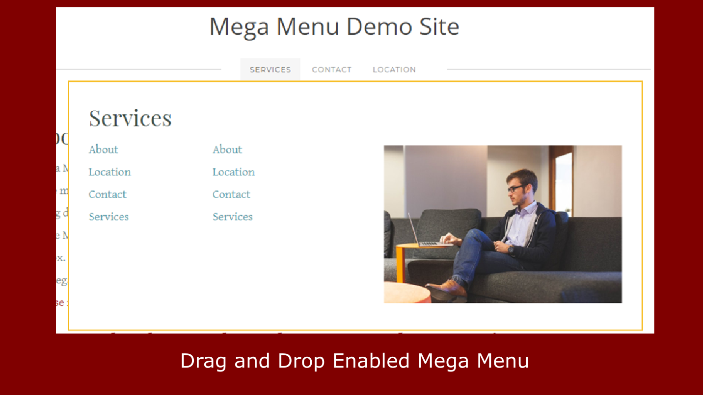 mega menu weebly app
