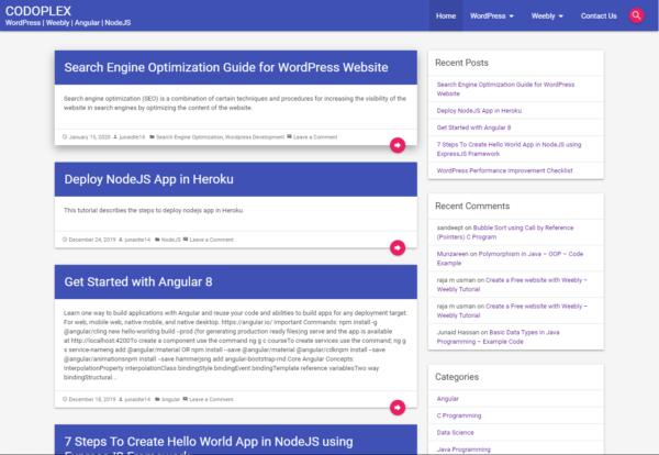 CODOMWP - Material Design WordPress Theme - Blog Template
